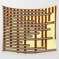 chocolate Wall Tapestries featuring Chocolate Bars by Naked N Pieces