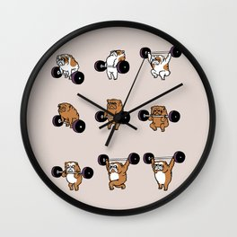 OLYMPIC LIFTING English Bulldog Wall Clock