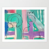 Ghetto Kids in the Abstract Art Print