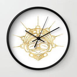 Gold Frog Spirit Wall Clock