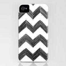 Classic Chevrons in Black iPhone (4, 4s) Slim Case