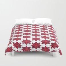 Flowery Red Duvet Cover