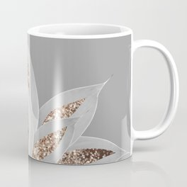 Gray Agave with Gold Glitter #1 #shiny #tropical #decor #art #society6 Coffee Mug