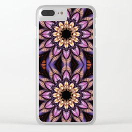 Artistic fantasy flower Clear iPhone Case
