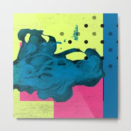 Halftone Highlighter Metal Print