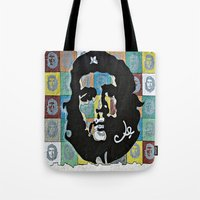 che Tote Bags featuring Everywhere a Che, Che by Ethna Gillespie