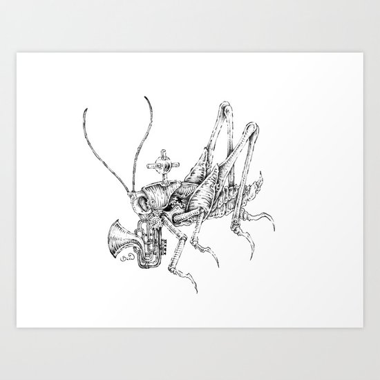 clockwork grasshopper Art Print