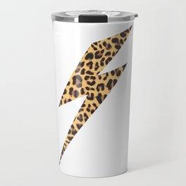 Wild Thing Leopard Lightning Bolt Travel Mug