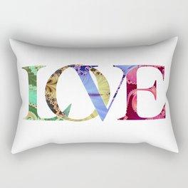 LOVE Word Art Rectangular Pillow