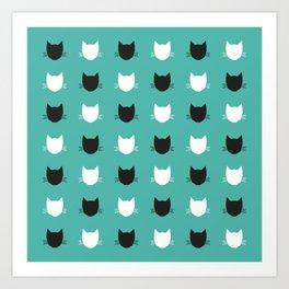 Cat Pattern 03 Art Print