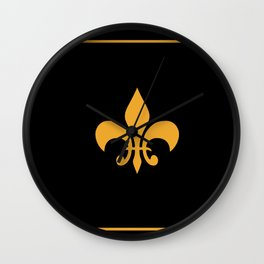 Gold And Black Wall Clock