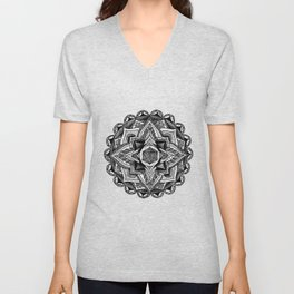 Mandala Circles Unisex V-Neck