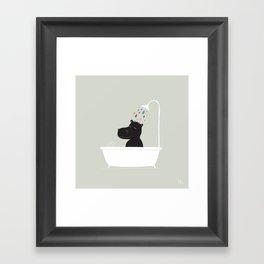 The Happy Shower Framed Art Print