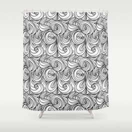 Flowing Lines Shower Curtain