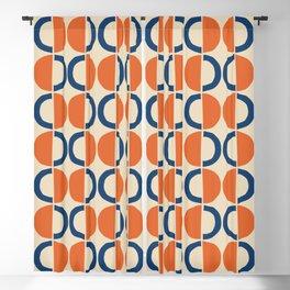 Mid Century Half Circle Pattern 124 Blackout Curtain