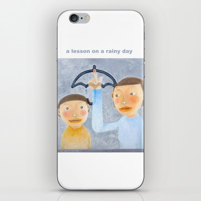 a lesson on a rainy day iPhone Skin