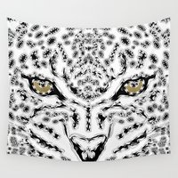 leopard Wall Tapestries featuring Leopard by BUBUBABA