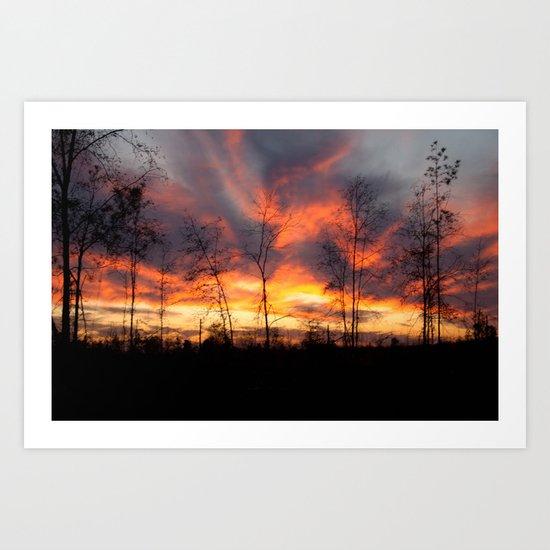 South Georgia Sky on Fire Art Print