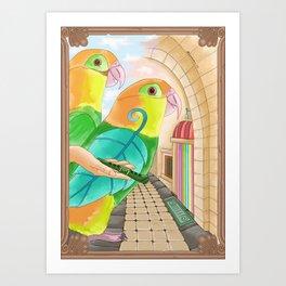 The Leaf Flute Art Print