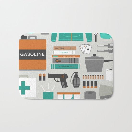 Zombie Survival Kit Bath Mat