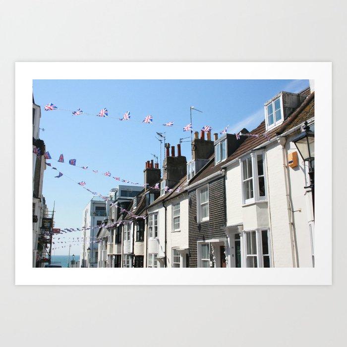 Brighton streets Art Print