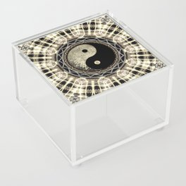 Yin Yang Geometry Mandala V1 Acrylic Box