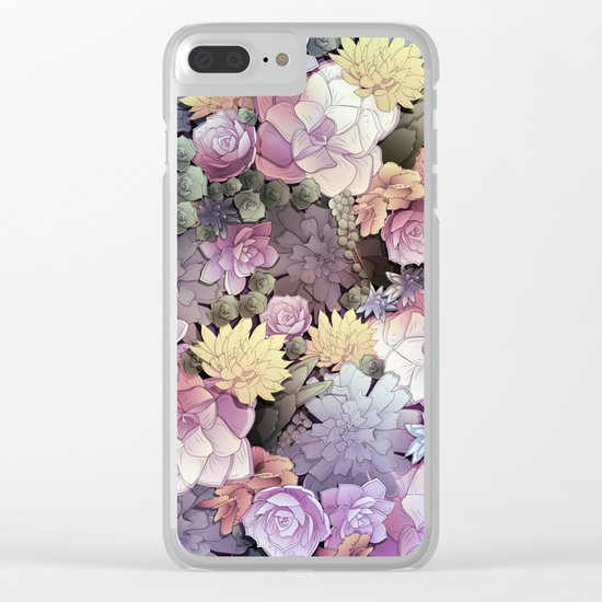 Pastel Nature Clear iPhone Case
