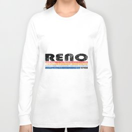 Vintage 1980s Style Reno Nevada hipster T-Shirts Long Sleeve T-shirt
