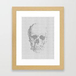 Hide Skull Framed Art Print