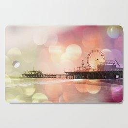 Sparkling pink Santa Monica Pier Cutting Board