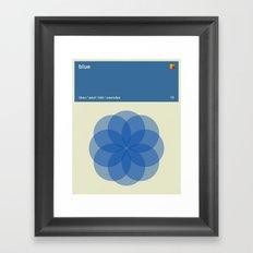 Color Print - Blue Framed Art Print
