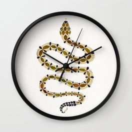 Olive Serpent Wall Clock