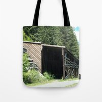 john snow Tote Bags featuring Snow Shed by NoelleB