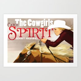 Reiner Cowgirl Art Print