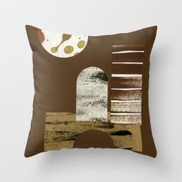 Night Desert Dwelling Throw Pillow