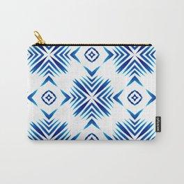 Shibori Blue Watercolour No.15 Carry-All Pouch