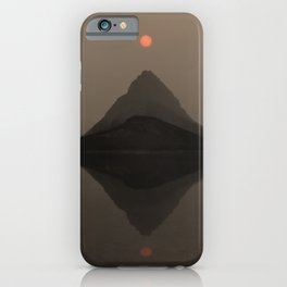 Sunset Over Mount Grinnell and Swiftcurrent Lake. iPhone Case