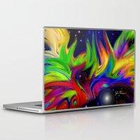 makeup Laptop & iPad Skins featuring Galactic makeup by JT Digital Art