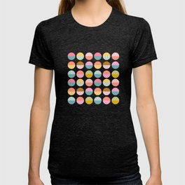 Colorful and Bright Circle Pattern T-shirt