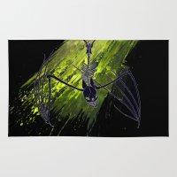 bat Area & Throw Rugs featuring Bat by Logan Chpmn