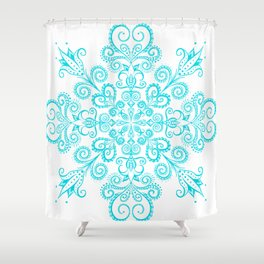 Snow flowers. Shower Curtain