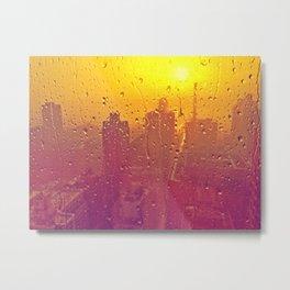 NYC Rain Metal Print