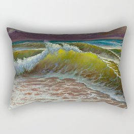 wild waves Rectangular Pillow
