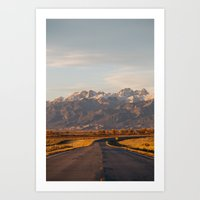 The Road to the Mountains Art Print