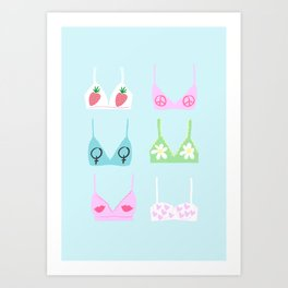 girl power bras Art Print