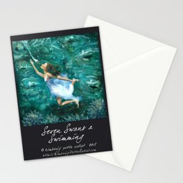 Seven Swans a Swimming Stationery Cards