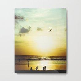 Sunset Play Metal Print