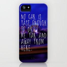 """""""No Car"""" Phone Case iPhone Case"""