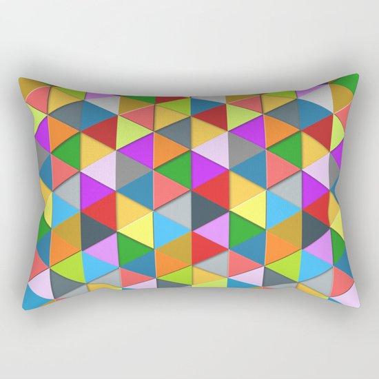 Colorful triangle galore geometric pattern Rectangular Pillow