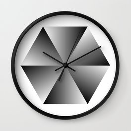 Metal Hexagon Wall Clock